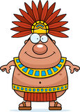 Happy Cartoon Aztec King Stock Image