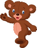 Happy cartoon baby bear Stock Image