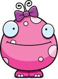 Happy Cartoon Baby Girl Monster Stock Image