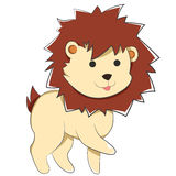 Happy Cartoon Baby Lion Royalty Free Stock Photos
