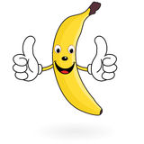 Happy Cartoon Banana Stock Image