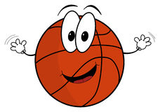 Happy cartoon basketball character Royalty Free Stock Photos