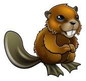 Happy Cartoon Beaver Stock Photos