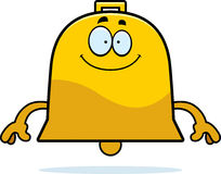 Happy Cartoon Bell. A cartoon illustration of a bell looking happy Royalty Free Stock Image