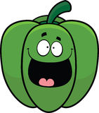 Happy Cartoon Bell Pepper Stock Photography