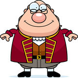 Happy Cartoon Ben Franklin. A cartoon illustration of Ben Franklin looking happy Stock Image