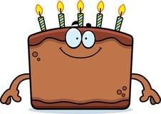 Happy Cartoon Birthday Cake Royalty Free Stock Image