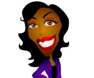 Happy Cartoon Black Woman Royalty Free Stock Photo