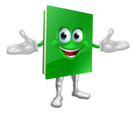 Happy cartoon book man Stock Images