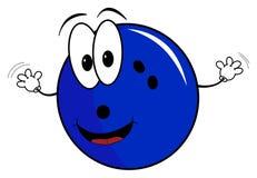 Happy cartoon bowling ball character Royalty Free Stock Photo