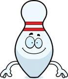 Happy Cartoon Bowling Pin Stock Photos