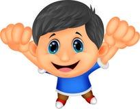 Happy cartoon boy Royalty Free Stock Photo