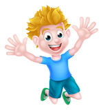 Happy Cartoon Boy Stock Image