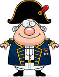 Happy Cartoon British Admiral Royalty Free Stock Photo
