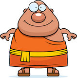 Happy Cartoon Buddhist Monk Stock Image