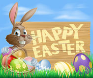Happy Easter Sign Stock Photo
