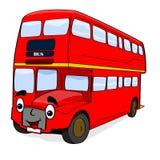 Happy cartoon bus Royalty Free Stock Photo