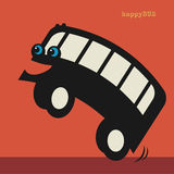Happy cartoon bus Royalty Free Stock Images