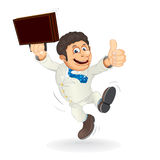 Happy Cartoon Businessman Stock Image