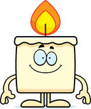 Happy Cartoon Candle. A cartoon illustration of a candle looking happy Stock Photos