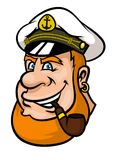 Happy cartoon captain or sailor character Royalty Free Stock Images