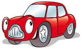Happy cartoon car Stock Photos
