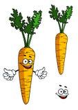 Happy cartoon carrot character Royalty Free Stock Image