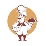 Happy cartoon chef, vector illustration for your logo Stock Photo