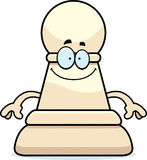 Happy Cartoon Chess Pawn Royalty Free Stock Images