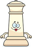 Happy Cartoon Chess Queen. A cartoon illustration of a queen chess piece looking happy Royalty Free Stock Photo