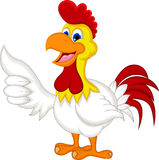 Happy cartoon chicken thumb up Royalty Free Stock Photos