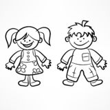Happy cartoon children vector illustration