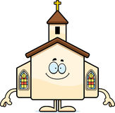 Happy Cartoon Church Stock Image