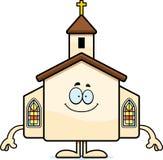 Happy Cartoon Church Stock Image
