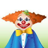 Happy cartoon clown Stock Images