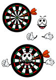 Happy cartoon colorful darts target character Royalty Free Stock Photos
