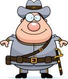 Happy Cartoon Confederate Soldier Stock Photography