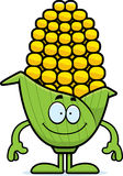 Happy Cartoon Corn Stock Photo