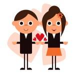 Happy Cartoon Couple Illustration Royalty Free Stock Image
