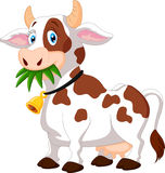 Happy cartoon cow Royalty Free Stock Photos