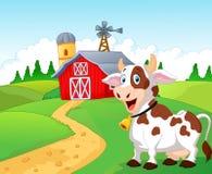 Happy cartoon cow. Illustration of Happy cartoon cow vector illustration