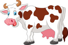 Happy cartoon cow Stock Photography