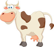 Happy cartoon cow Stock Images