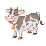 Happy cartoon cow Stock Images
