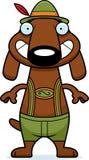 Happy Cartoon Dachshund Lederhosen Royalty Free Stock Image