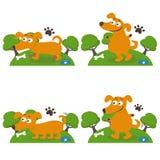 Happy cartoon dogs. Vector illustration Royalty Free Stock Photos