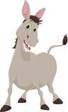 Happy cartoon donkey  on white background Royalty Free Stock Image