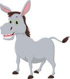 Happy cartoon donkey  on white background Royalty Free Stock Photo