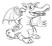Happy cartoon dragon Stock Images