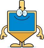 Happy Cartoon Dreidel. A cartoon illustration of a dreidel looking happy Stock Photos